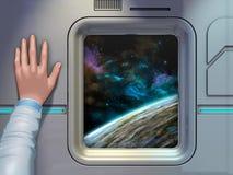 Eksploracja przestrzeni kosmicznej ilustracja wektor