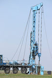 Eksploracja złóż ropy naftowej wiertniczego takielunku pojazd Obrazy Royalty Free