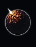 eksplozja energii kuli Fotografia Stock