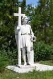 Eksponat reprezentuje tynk antykwarską rzeźbę Obraz Stock