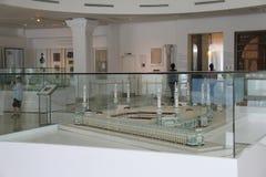 Eksponat szalkowy model Masjid al w Islamskiej sztuce Musium fotografia royalty free