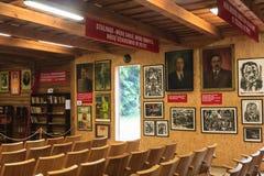 Eksponata centrum informacyjnego muzeum Grutas park Fotografia Stock