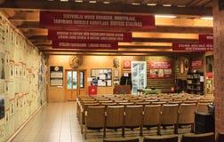 Eksponata centrum informacyjnego muzeum Grutas park Obrazy Stock