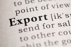 eksport zdjęcia stock