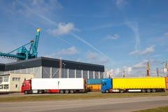 Eksport ciężarówki obraz royalty free