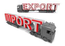 Eksportowy importowego handlu pojęcie Fotografia Stock