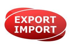 Eksportowy Importowy rewolucjonistka znak ilustracja wektor