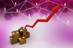 Eksportowy wzrostowy pojęcie Zdjęcia Stock