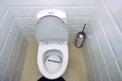 Ekspozycja mieszkań wnętrza toaleta Fotografia Royalty Free