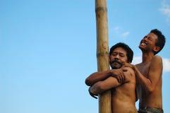 Ekspresion duro e ekspresion morbido degli uomini asiatici Fotografie Stock Libere da Diritti