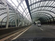 Ekspresowa droga w Warszawa Zdjęcia Royalty Free