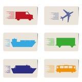 Ekspresowa podróż, transport etykietki z cieniem Obrazy Stock