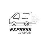 Ekspresowej dostawy ikony pojęcie Van usługa, rozkaz shi, na całym świecie Obrazy Royalty Free