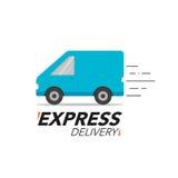 Ekspresowej dostawy ikony pojęcie Van usługa, rozkaz shi, na całym świecie Zdjęcia Stock