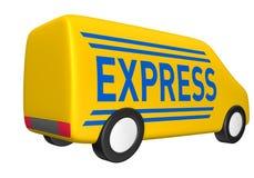ekspresowy dostawa samochód dostawczy Obrazy Stock