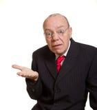 ekspresyjny biznesmena senior zdjęcie stock