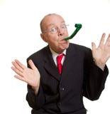 ekspresyjny biznesmena senior obraz stock