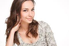 Ekspresyjny brunetki piękno fotografia royalty free