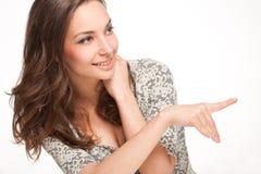 Ekspresyjny brunetki piękno obraz stock