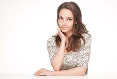 Ekspresyjny brunetki piękno fotografia stock