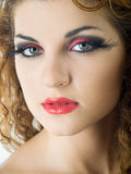 ekspresyjny makeup obrazy stock