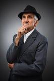 Ekspresyjny starszy portret Fotografia Royalty Free