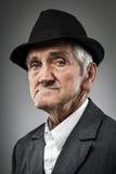 Ekspresyjny starszy portret zdjęcia stock
