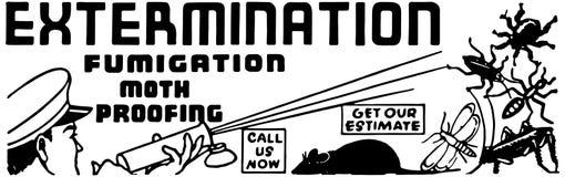 eksterminacja royalty ilustracja