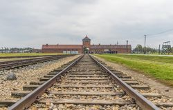 Eksterminacyjny obóz Auschwitz, Polska zdjęcia stock