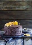 Ekstra czekoladowy tort Fotografia Royalty Free
