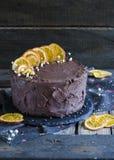 Ekstra czekoladowy tort Zdjęcie Royalty Free