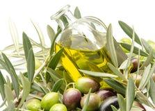 Ekstra dziewiczy oliwa z oliwek Fotografia Royalty Free