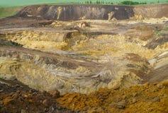 Ekstrakcja piasek w piaskowatym łupie Obraz Stock