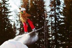 ekstremalne snowboarder Obrazy Royalty Free