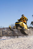 Ekstremaly. Competitions on snowmobile Royalty Free Stock Photo