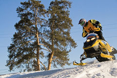 Ekstremaly. Competitions on snowmobile Royalty Free Stock Photography