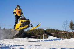 Ekstremaly. Competitions on snowmobile Stock Photo