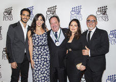 Ektor Rivera, Ana Villafane, James L Nederlander, Gloria Estefan y Emilio Estefan Foto de archivo