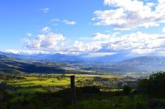 Ekuadorianisches Tal Stockfotografie
