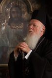Ekumenisk patriark Bartholomew royaltyfria foton