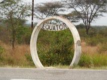 Ekvator Uganda Arkivfoto