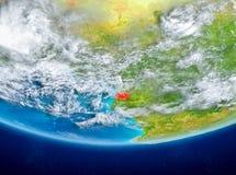 Ekvatorialguinea på jordklotet från utrymme Royaltyfri Foto