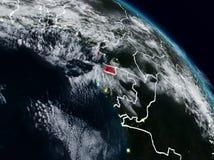 Ekvatorialguinea på natten vektor illustrationer