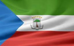 ekvators- flaggaguinea Royaltyfri Foto