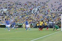 Ekwador drużyny futbolowej krajowy napadanie podczas Copa Ameryka Ce Zdjęcie Stock