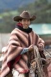 Ekwador kowboj na horseback Obraz Stock
