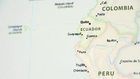 Ekwador na mapie z defocus