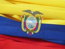 Ekwador sztandar lub flaga zdjęcia stock