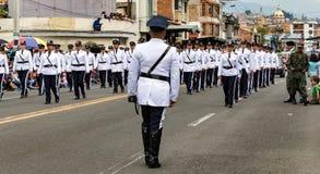 Ekwadorski wojskowy na paradzie Fotografia Royalty Free