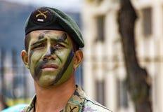 Ekwadorski wojskowy na paradzie Zdjęcia Royalty Free